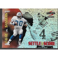 BARRY SANDERS/BRETT FAVRE 1996 Score settle the score /30