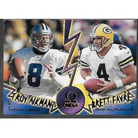 TROY AIKMAN/BRETT FAVRE 1998 Pacific Omega Face to Face #10 Packers Cowboys