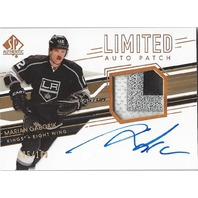Marian Gaborik SP Authentic 3 Color Patch Autograph 085/100