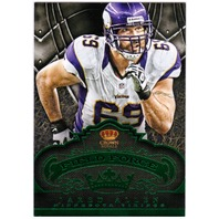 JARED ALLEN 2012 Crown Royale Field Force Green /10 Parallel Card Vikings