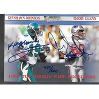 KEYSHAWN JOHNSON/TERRY GLENN 1996 Proline II Memorabilia /600 auto autograph