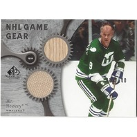 Mr Hockey Gordie Howe SP Game Used Jersey and Stick card /100