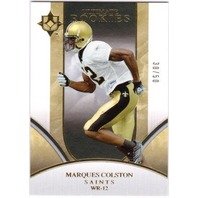 MARQUES COLSTON 2006 UD Ultimate Collection Gold Rookie /50 Parallel Card Saints