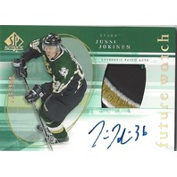 Jussi Jokinen 2005-06 SP Authentic Future Watch Limited Patch Autograph Auto/100