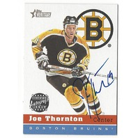 Joe Thornton 2000-01 Topps Heritage On Card Autograph #HA-JT Auto Bruins Sharks