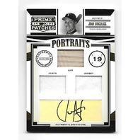 JUAN GONZALEZ 2005 Donruss Prime Patches Portraits patch bat piece auto/250