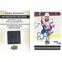 Evgeny Kuznetsov 2014-15 Fleer Ultra Rookie Buyback Autograph /125 UD Auto 14/15