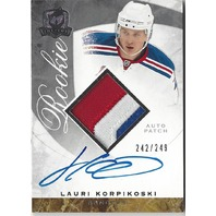 Lauri Korpikoski The Cup 3 Color Autograph Patch NY Rangers
