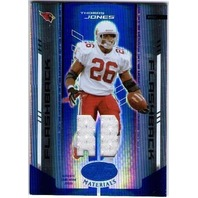 THOMAS JONES 2004 Leaf Certified Materials Mirror Blue Game Jersey 41/50 Card