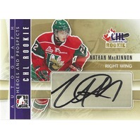 Nathan MacKinnon In The Game On Card Autograph Canadian Hockey League ITG Auto