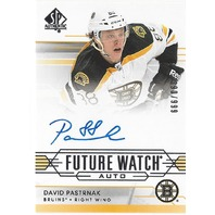 2014-15 SP Authentic #282 David Pastrnak Autograph Rookie RC