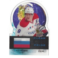 Alex Ovechkin 2012-13 Upper Deck Series 1 Clear Die Cut Pride of Russia /100 UD