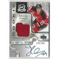 Johnny Oduya 2006-07 UD The Cup Rookie Autograph Patch /249 NJ Devils auto