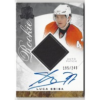 Luca Sbisa 2008-09 The Cup 126 On Card Autograph Rookie Patch RC /249 Auto 08/09