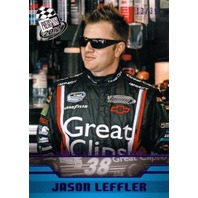 JASON LEFT TURN LEFFLER 2012 Press Pass Purple Foil Parallel Card #41 13/35