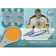 Hannu Toivonen 2005-06 SP Game Used Significant Numbers Autograph Jersey Auto/33