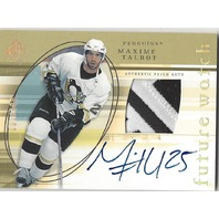 2005-06 SP Authentic Limited #182 Maxime Talbot Autographed Patch /100