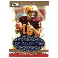 ANDREW WALTER 2006 SAGE HIT Gold Autograph Rookie Card Auto /250 Arizona State