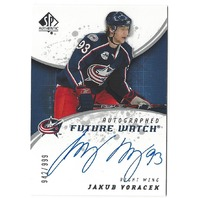 Jakub Voracek 2008-09 UD SP Authentic Future Watch On Card Autograph /999 Auto