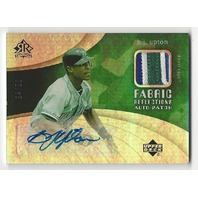 B.j. Upton 2005 UD Reflections Autograph 3 Color Patch /50 Auto Blue Jays frp-bu