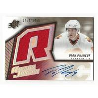 Dion Phaneuf 2005-06 SPx Autograph Rookie Jersey /1499 RC Ottawa Senators