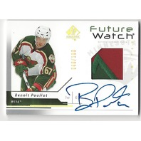 Benoit Pouliot 2006-07 SP Authentic Future Watch Limited Patch Autograph /100 RC
