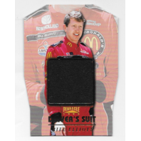 Bill Elliot NASCAR 1996 Pinnacle Drivers Suit Die-cut /1  Black firesuit