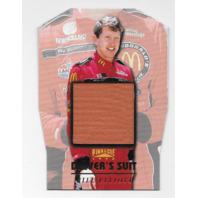 Bill Elliot NASCAR 1996 Pinnacle Drivers Suit Die-cut /1  red firesuit  (x)