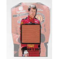 Bill Elliot NASCAR 1996 Pinnacle Drivers Suit Die-cut /1  red firesuit