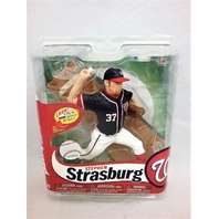 2013 Stephen Strasburg Blue Jersey McFarlane's Sportspick Figure MLB 31 Washington Nationals Major League Baseball