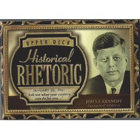John F. Kennedy Upper Deck Historical Rhetoric Audio Card #HR-JFK