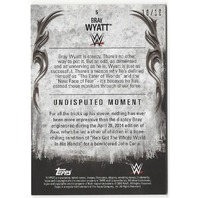 Bray Wyatt 2016 WWE Undisputed Gold Parallel Insert Numbered 10/10