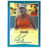 Coco Vandeweghe 2016 Leaf Metal Tennis Black #BA-CVI /50 Autograph Card