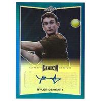 Ryler Deheart 2016 Leaf Metal Tennis Blue #BA-RDH /50 Autograph Card