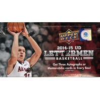 2014/15 Upper Deck Lettermen Basketball Hobby Box (Sealed)