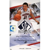 2014/15 Upper Deck SP Authentic Basketball Hobby Box (Sealed)