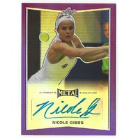 Nicole Gibbs 2016 Leaf Metal Tennis Purple Autograph Card /25