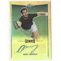 Andy Murry 2016 Leaf Metal Tennis Base Silver Prismatic Autograph