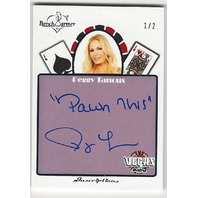 Peggy Tanous Bench Warmer Vegas Baby Autographed Inscriptions Card 1/2