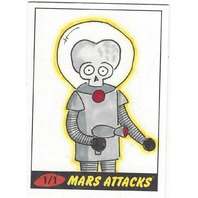 Mars Attacks 1 of 1 Jason Adams 2012 Artist Sketch Card