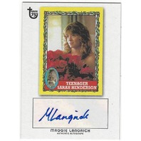 Maggie Langrick 2013 Topps 75th Teenager Sarah Henderson Autograph Card