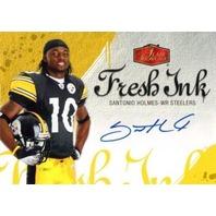 SANTONIO HOLMES 2006 Flair Showcase Fresh Ink Rookie Auto Card SP