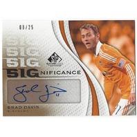 Brad Davis Huston Dynamo MLS 2011 SP Game Used Autograph #SIG-BD /25