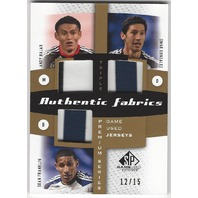 Andy Najar Omar Gonzalez Sean Franklin Authentic Game Used Jersey Card /15