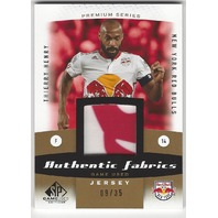 Thierry Henry Authentic Game Used MLS New York Red Bull Jersey Card /35