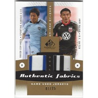 Roger Espinoza Andy Majar Authentic Game Used MLS Jersey Card 01/25