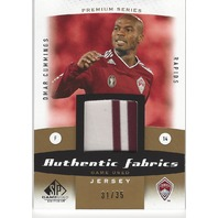 Omar Cummings Authentic Game Used MLS Colorado Rapids Jersey Card /35