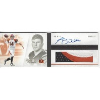 Andy Dalton Cincinnati Bengals 2012 Panini Playbook Rookie Autograph Patch RC /49