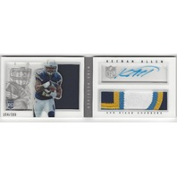Keenan Allen San Diego Chargers 13  Rookie Playbook Autograph Patch /299 RC