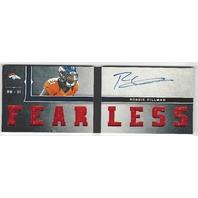 Ronnie Hillman Denver Broncos 2013 Panini Playbook Autograph Fearless RC /99